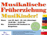 """Musikalische Früherziehung """"MusiKinder!"""" ab 4 Jahren"""